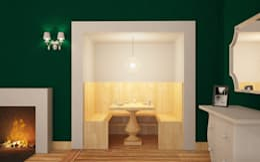 Comedores de estilo ecléctico por Arch. Francesco Antoniazza - Verbania Como