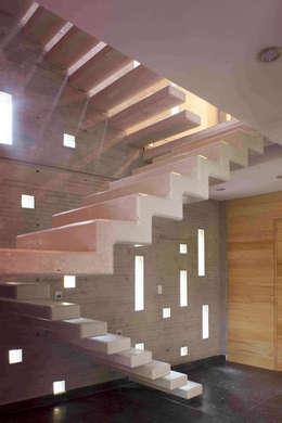 Casa Argueta: Escaleras de estilo  por Eduardo Gutiérrez Taller de Arquitectura