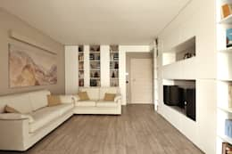 Soggiorno Moderno in una Villetta in Brianza: Soggiorno in stile in stile Moderno di JFD - Juri Favilli Design
