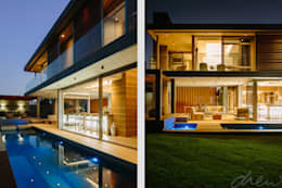 two floating boxes: modern Houses by drew architects + interiors
