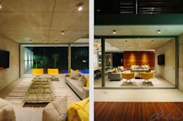 two floating boxes: modern Living room by drew architects + interiors