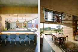 two floating boxes: modern Kitchen by drew architects + interiors