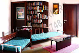 Heritage City 2: modern Study/office by Tribuz Interiors Pvt. Ltd.