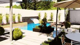 Vista Norte: Albercas de jardín de estilo  por gciEntorno