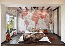 The bed: modern Bedroom by SAGA Design