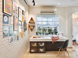 Study Zone: modern Bedroom by SAGA Design