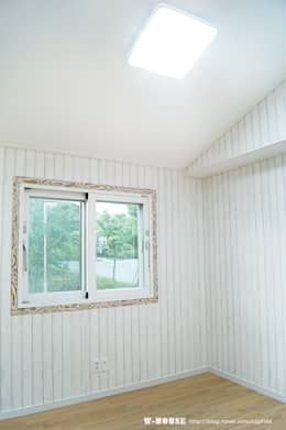 함라 신대리 2호 35평형 ALC전원주택: W-HOUSE의  다이닝 룸