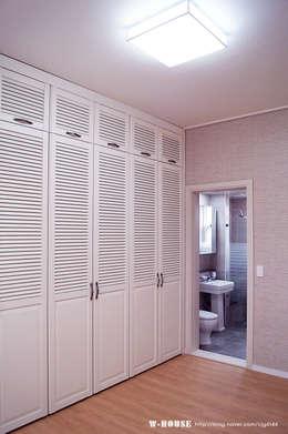 서천 8호 35평형 ALC전원주택: W-HOUSE의  드레스 룸