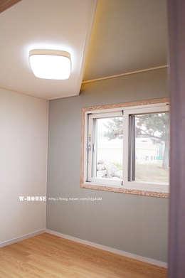 서천 8호 35평형 ALC전원주택: W-HOUSE의  침실