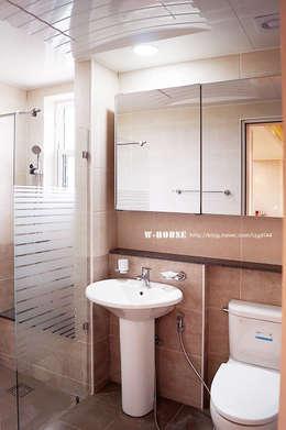 서천 8호 35평형 ALC전원주택: W-HOUSE의  화장실