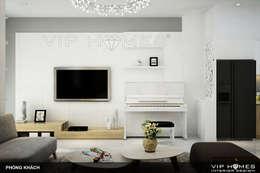 Thiết kế nội thất nhà phố phong cách hiện đại 150m2:   by Công ty TNHH Không Gian Mo
