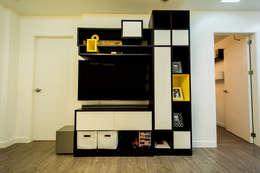 Tagaytay Southridge Estates: modern Media room by TG Designing Corner
