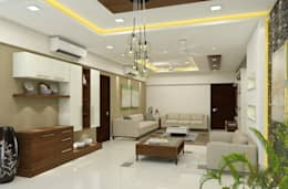 3 BHK flat @ Lodha Meridian: modern Dining room by shree lalitha consultants