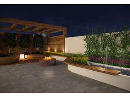 Jardines zen de estilo  por SZ ARQUITETURA