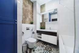 Реализованный интерьер квартиры на Шейнкмана,111: Ванные комнаты в . Автор – Дизайн Студия 33