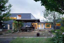 外観: 有限会社角倉剛建築設計事務所が手掛けた家です。