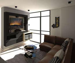 Salas multimedia de estilo industrial por Savignano Design