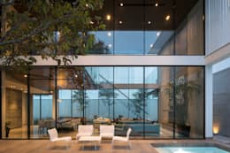 Casa del Tec, Residencia Ithualli: Terrazas de estilo  por IAARQ (Ibarra Aragón Arquitectura SC)