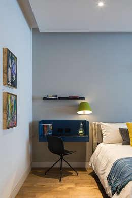 Casa del Tec, Residencia Ithualli: Recámaras infantiles de estilo moderno por IAARQ (Ibarra Aragón Arquitectura SC)