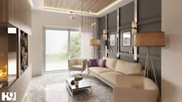Salon de style de style Industriel par H9 Design