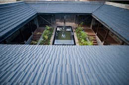 The courtyard:  Villas by Mu design