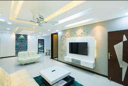 modern Living room by Rhythm  And Emphasis Design Studio