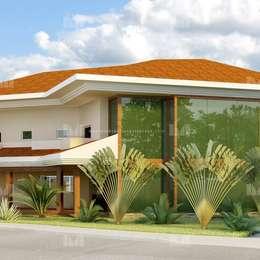 Fachada: Casas clássicas por Marcelo Brasil Arquitetura