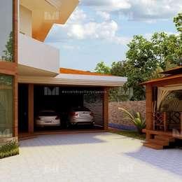 Garagem : Garagens e edículas clássicas por Marcelo Brasil Arquitetura