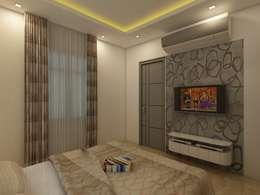 Bedroom T.V Unit: modern Bedroom by Regalias India Interiors & Infrastructure