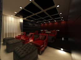 Home Theater Room :  Electronics by Regalias India Interiors & Infrastructure