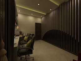 Office & Study Space: country Study/office by Regalias India Interiors & Infrastructure
