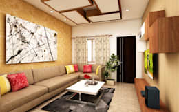 Living Room : modern Living room by Regalias India Interiors & Infrastructure