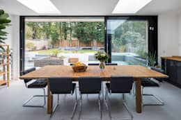 Large Rear Extension, Semi-detached House, Woodford Green, North-East London: modern Dining room by Model Projects Ltd