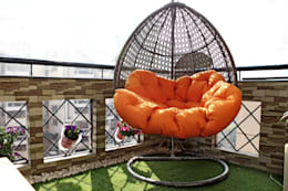 The Eggshell Swing : rustic Garden by Grecor