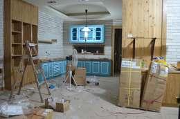 【舊屋翻新】36年透天屋宅改造設計案:  餐廳 by Gavin室內裝修設計