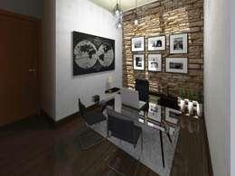 Area de Estudio : Estudios y oficinas de estilo minimalista por HC Arquitecto