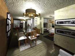 Comedor: Comedores de estilo minimalista por HC Arquitecto