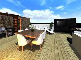 Roof garden : Terrazas de estilo  por HC Arquitecto