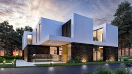 Casas de estilo moderno por Traçado Regulador. Lda