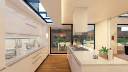 MORADIA PF1: Cozinhas modernas por Traçado Regulador. Lda