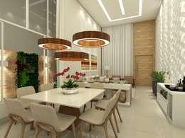 Residência R&D: Salas de jantar modernas por Juliana Azanha | Arquitetura e Interiores