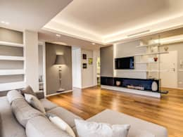 Salon de style de style Moderne par MOB ARCHITECTS
