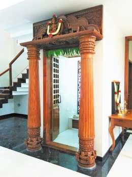 Pooja Room: modern Living room by Geometrixs Architects & Engineers
