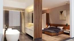 Dự án Galleria:  Phòng ngủ by thiết kế kiến trúc CEEB