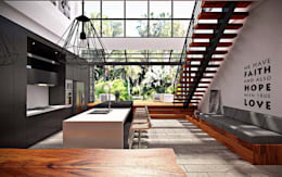 Ruang Makan, Dapur, & Taman :  Dapur by Lighthouse Architect Indonesia