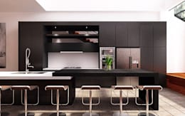 Black Diamond:  Dapur by Lighthouse Architect Indonesia