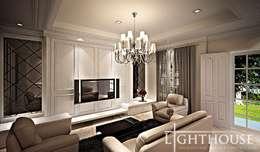 Living Room:  Ruang Keluarga by Lighthouse Architect Indonesia