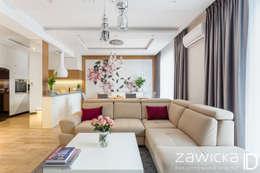 Salas de estar modernas por ZAWICKA-ID Projektowanie wnętrz