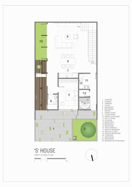 First Floor Plan:   by Simple Projects Architecture