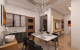 modern Dining room by Regalias India Interiors & Infrastructure